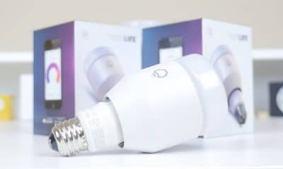 smart light bulb from lifx on table