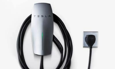 tesla wall charger that you plug into a wall outlet