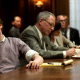 the social network movie with jesse eisenberg at table with lawyers