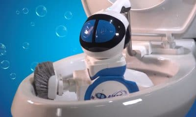 toilet cleaning robot from giddel in action