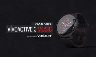 garmin vivoactive 3 music smartwatch on grey background