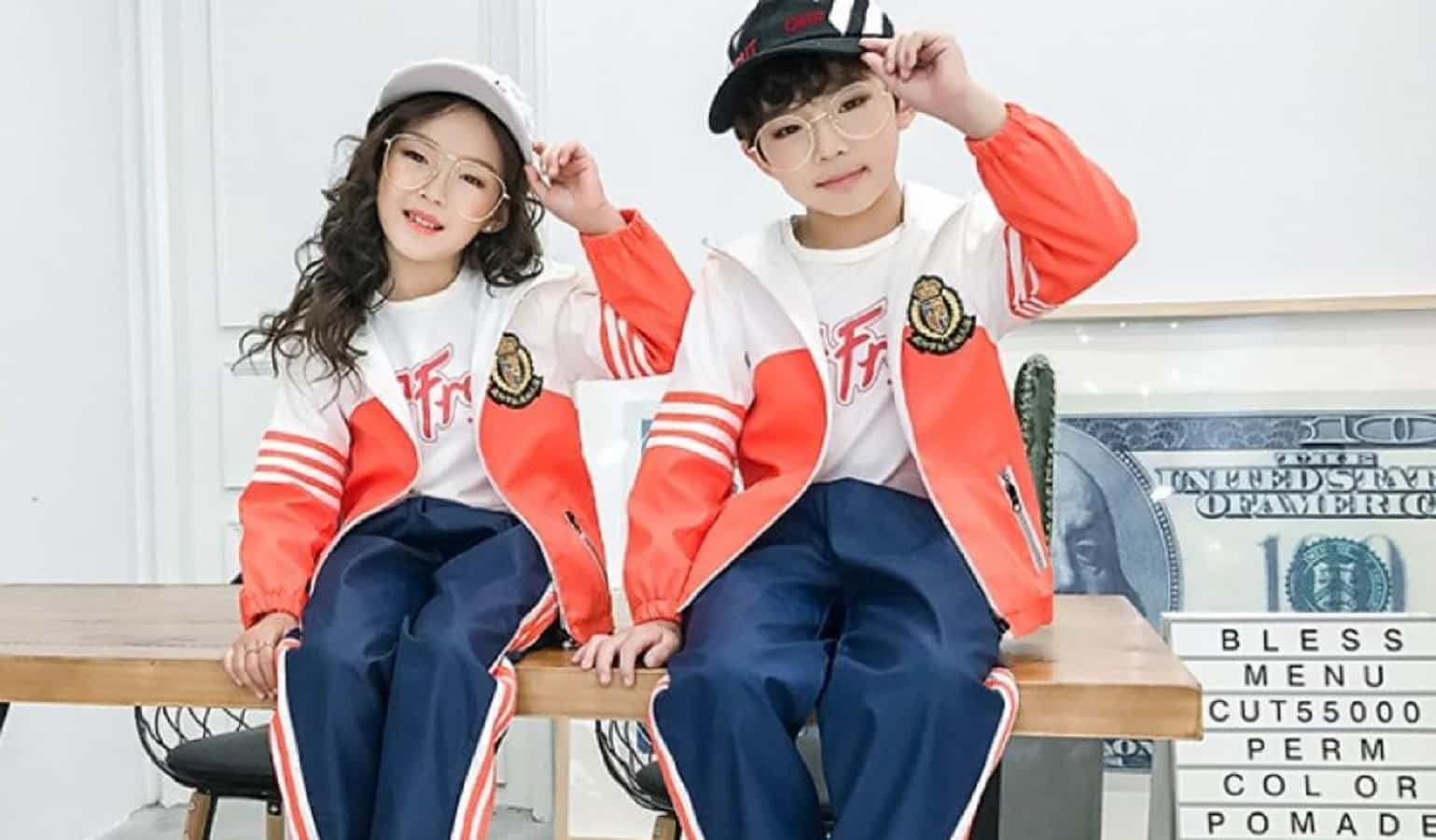 kids in china wearing trackable clothing