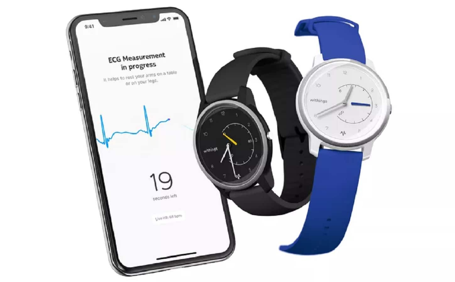 withings watch showing the ecg feature