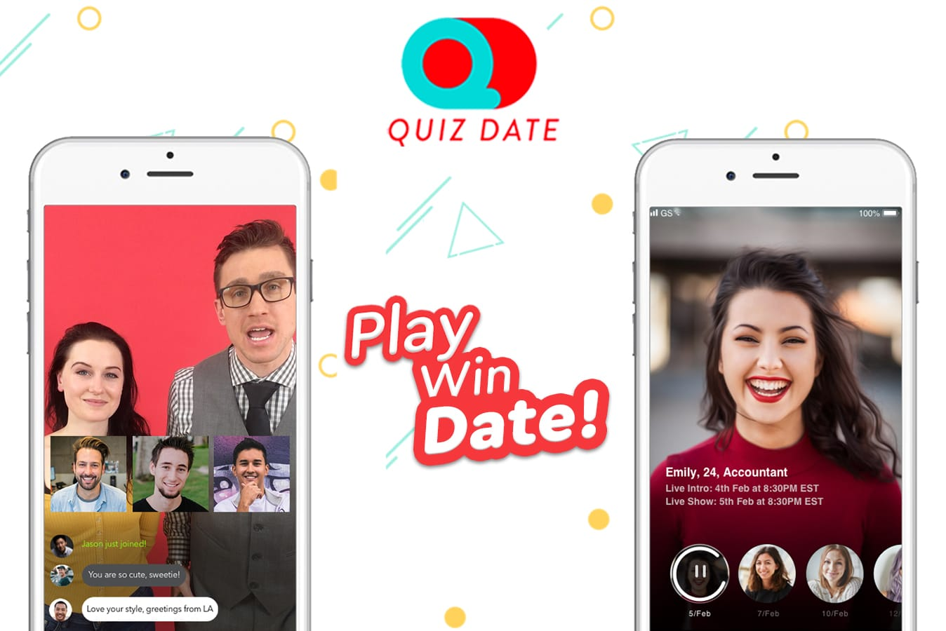 Quiz Date Live! gamifies your love life with its live dating app