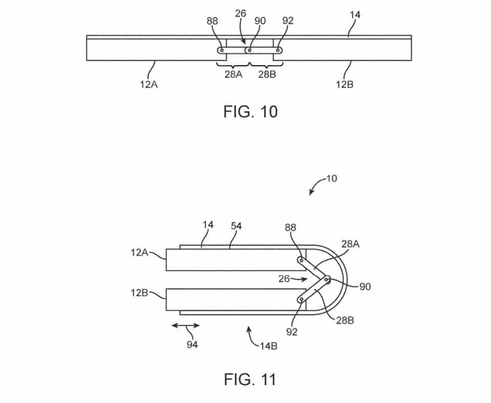 apple patent folding iphone