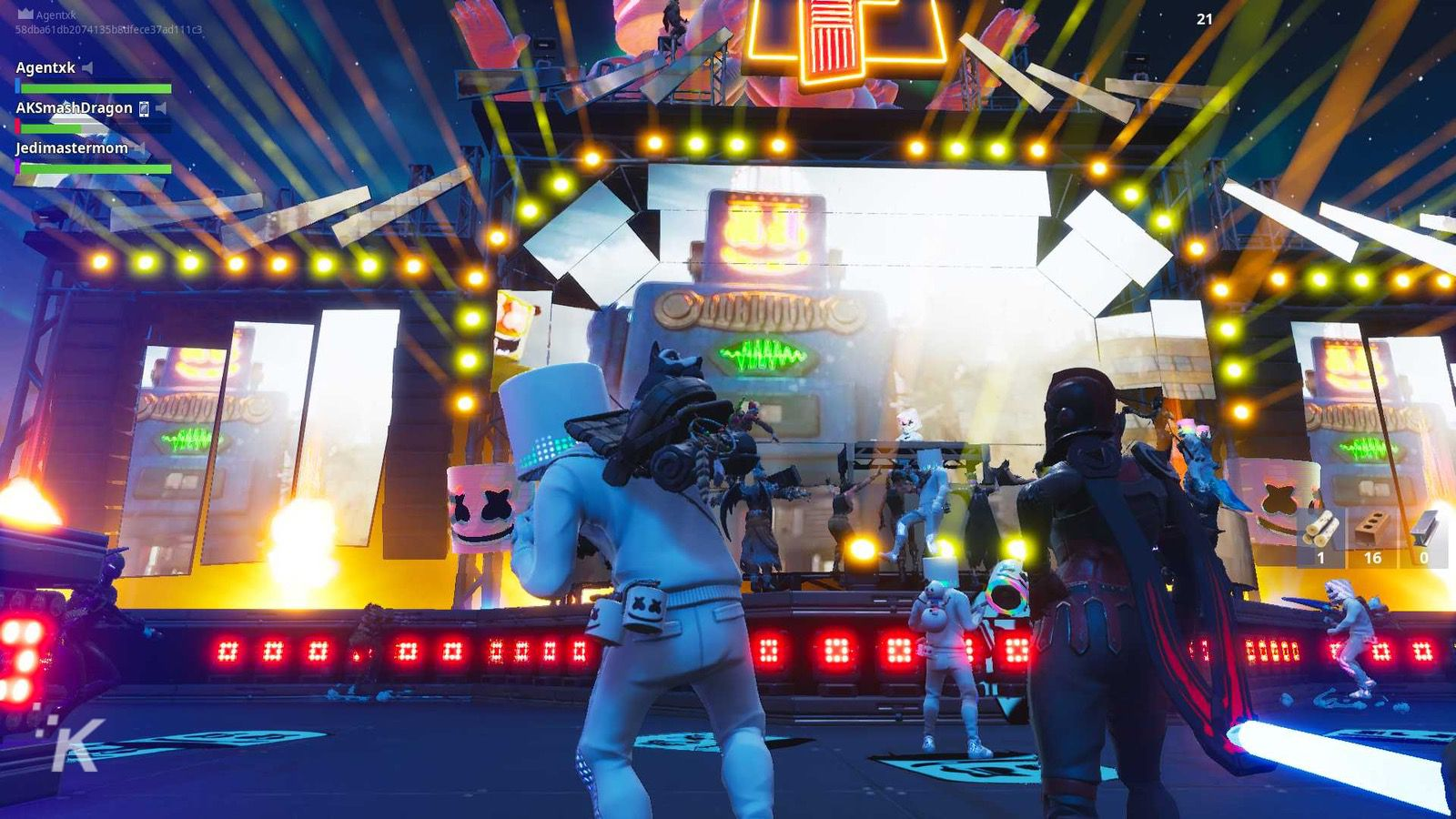 fortnite concert with marshmello