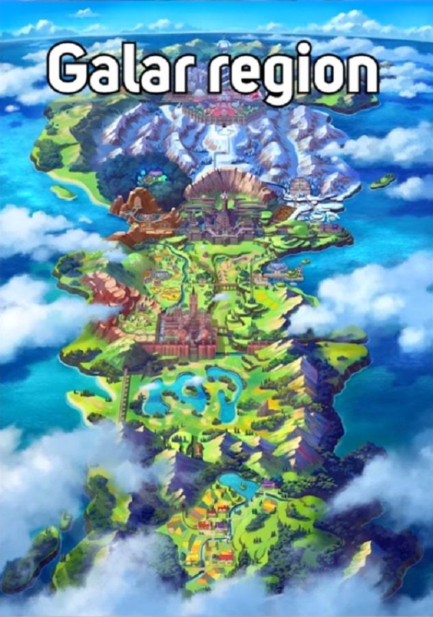 galar region in pokemon sword and shield
