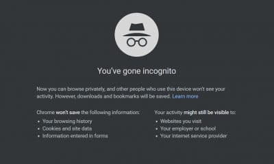 google incognito mode