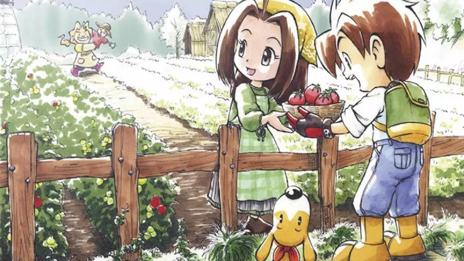 harvest moon characters on a farm