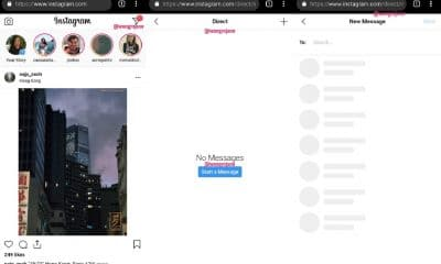instagram direct on web