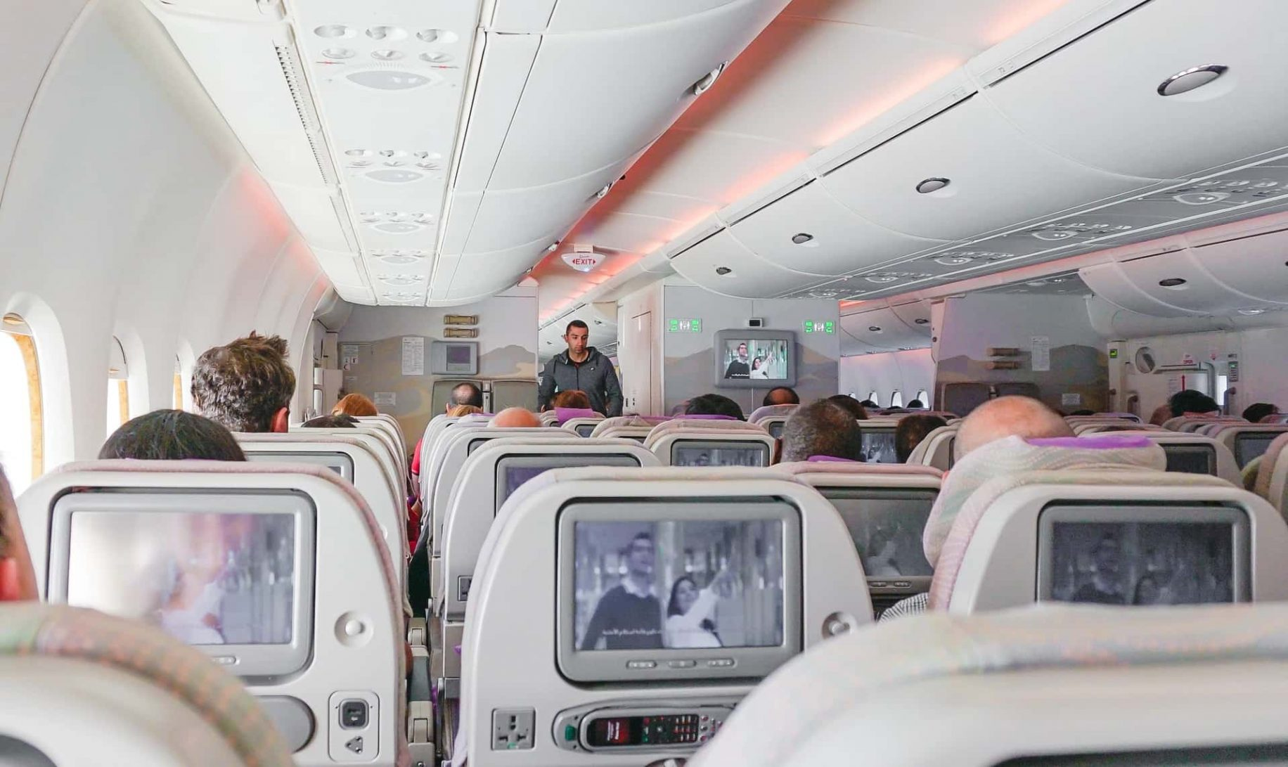 plane tv screens with camera spying on you