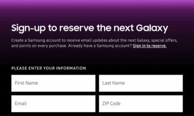 samsung galaxy s10 preordering screen