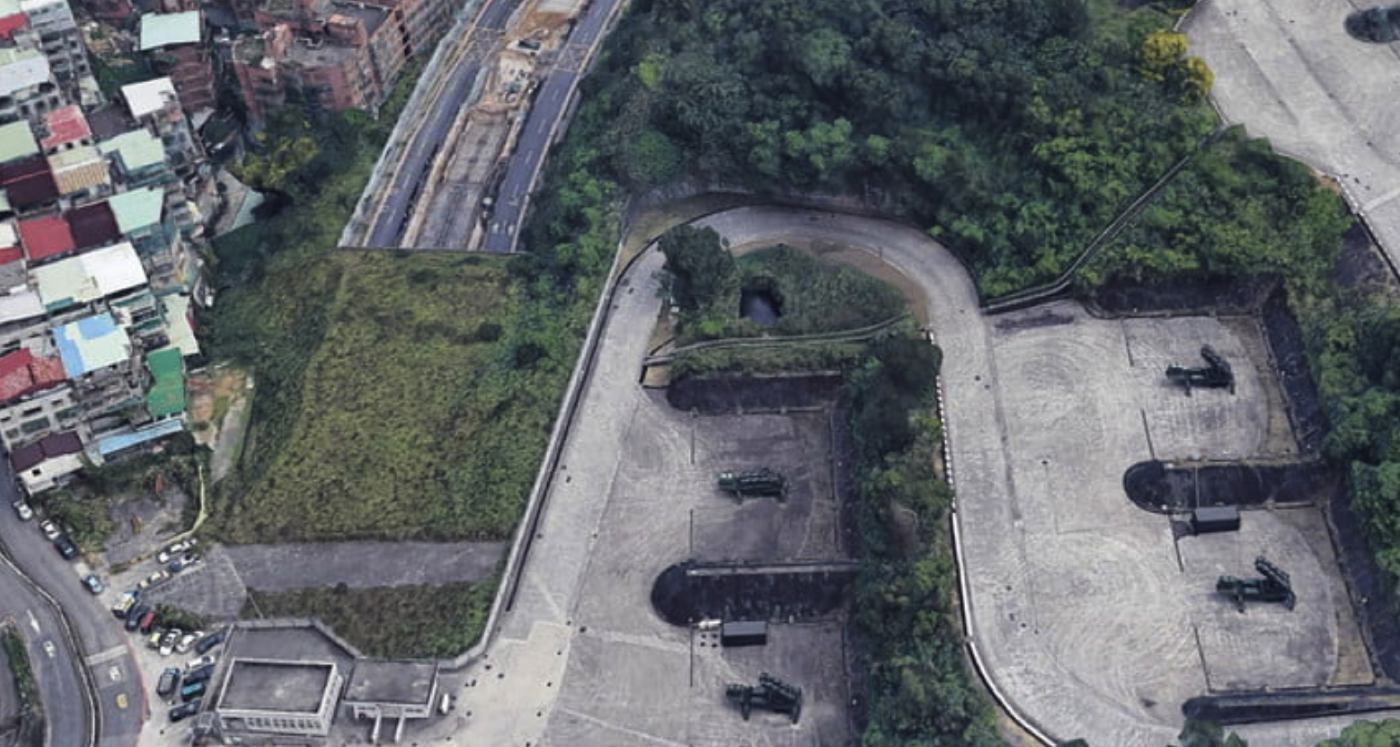 taiwan milatary base google earth 3d