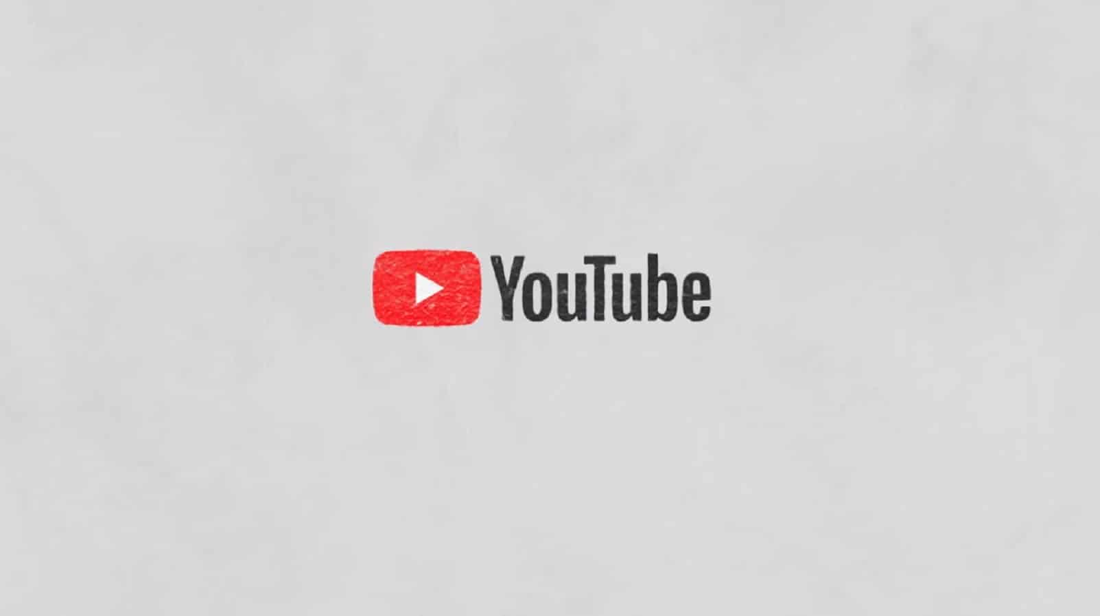 youtube logo on grey background