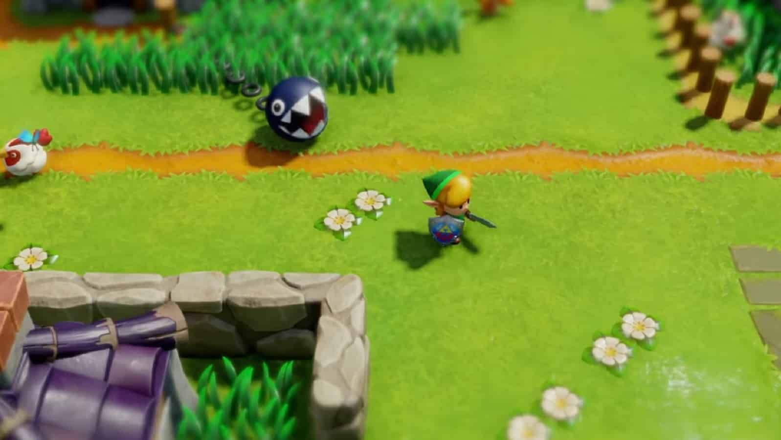 legend of zelda link's awakening on nintendo switch