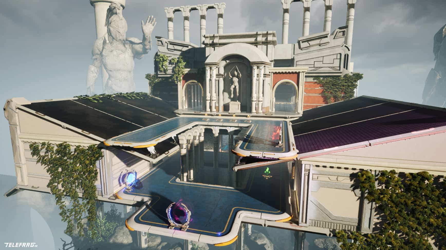 Telefrag VR is a fast-paced shooter that is reminiscent of Quake