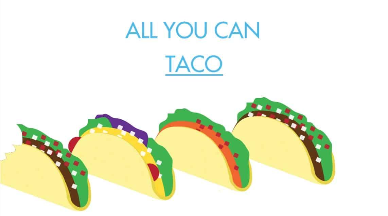 allyoucan instagram content featuring tacos