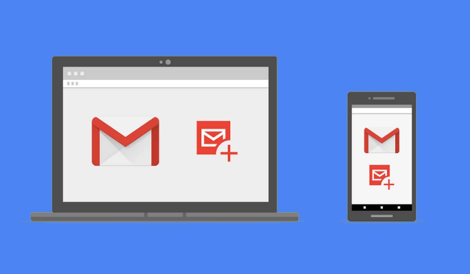 amp for gmail shown on blue background