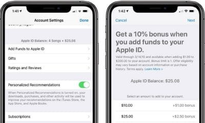 apple free money when adding funds