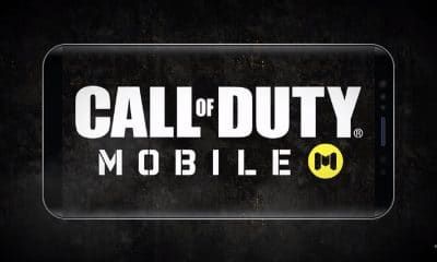call of duty mobile logo shown on phone screen