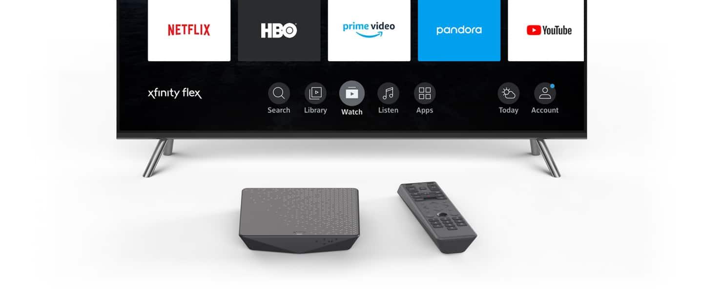 comcast flex tv showing remote
