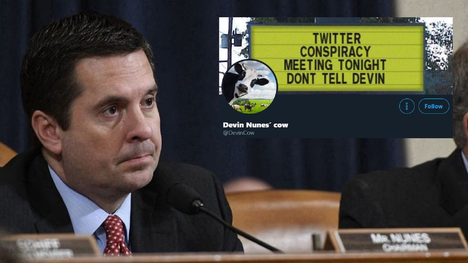 devin nunes looking at one of his parody twitter accounts