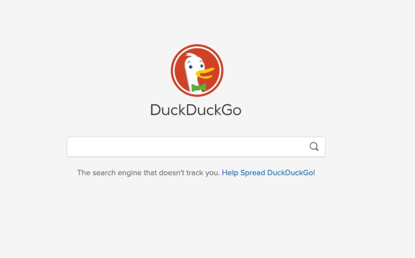 duckduckgo search page