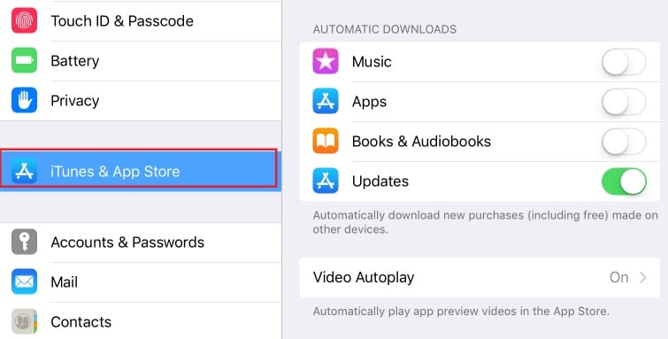 how to automatically update apps on ios