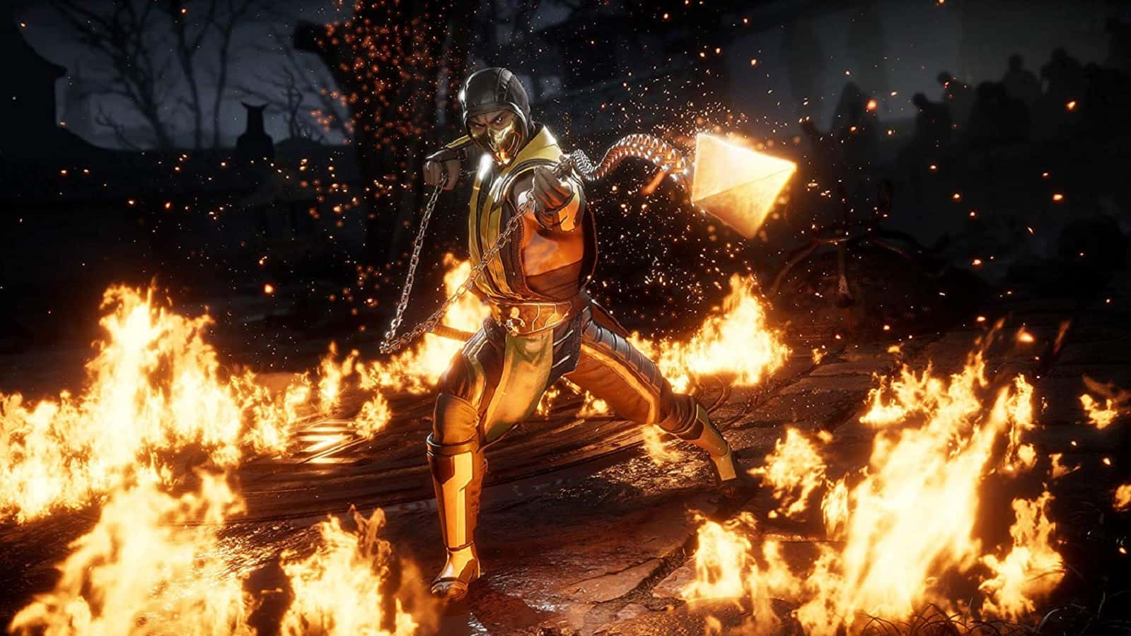 mortal kombat 11 showing off scorpion