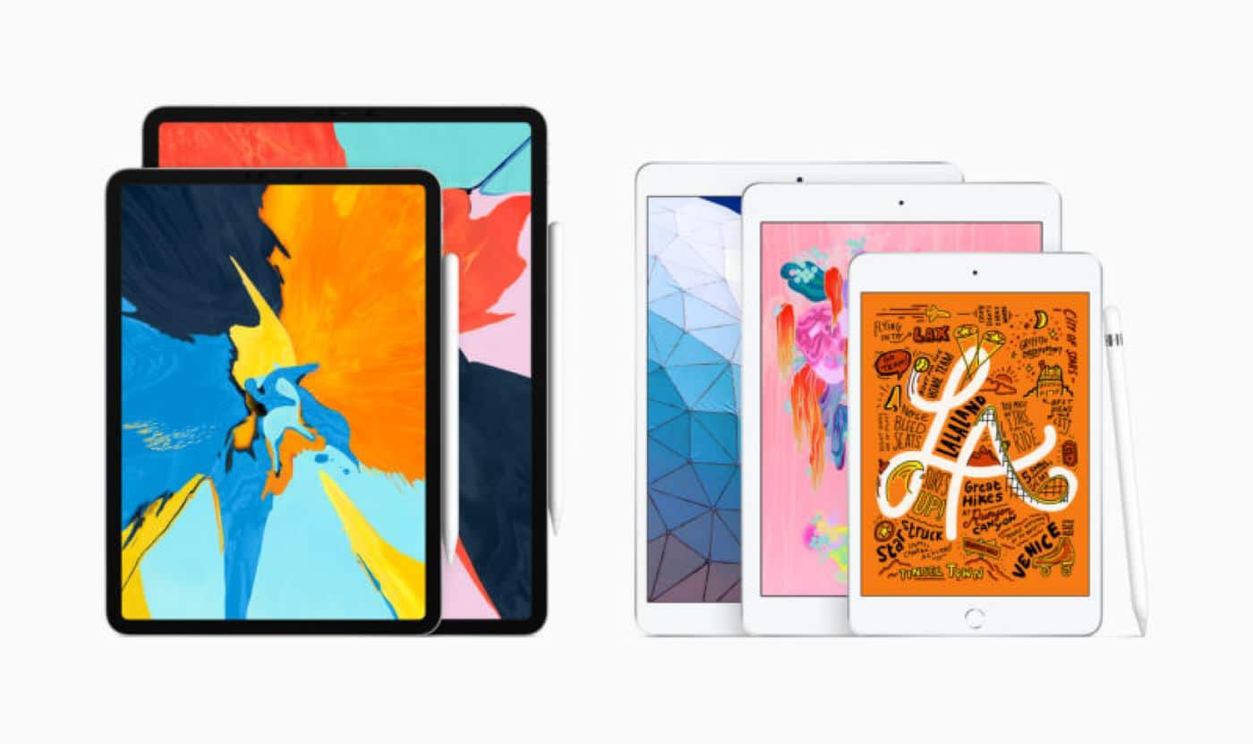 new apple ipad air and new ipad mini 2019