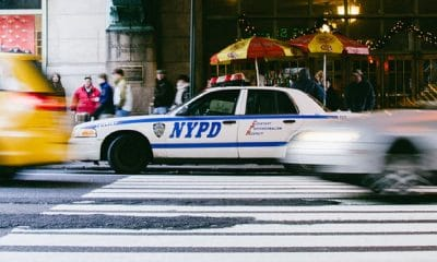 nypd cop car on streets of new york