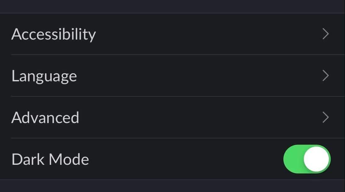 slack dark mode screenshot