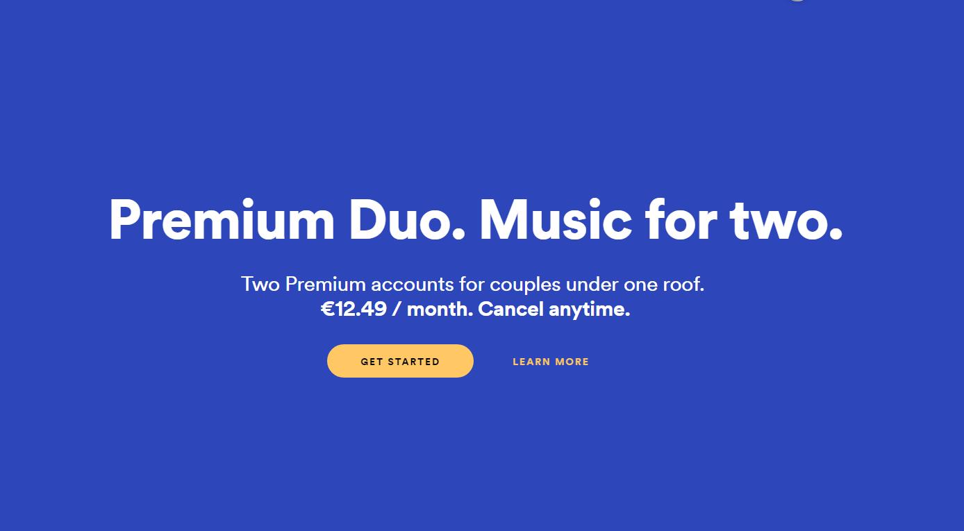 spotify duo premium plan