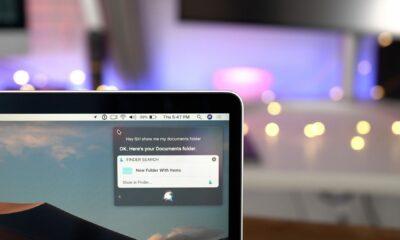 siri being used on a macbook macos