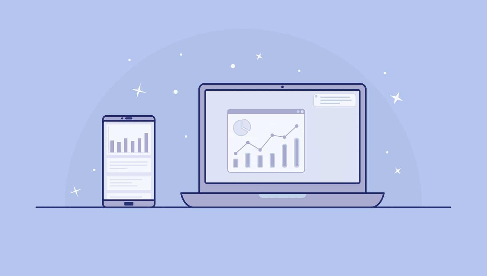 data on multiple screens