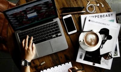 web design and designing on coffee table
