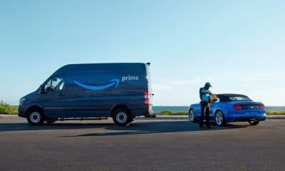 amazon key delivering package to a ford car