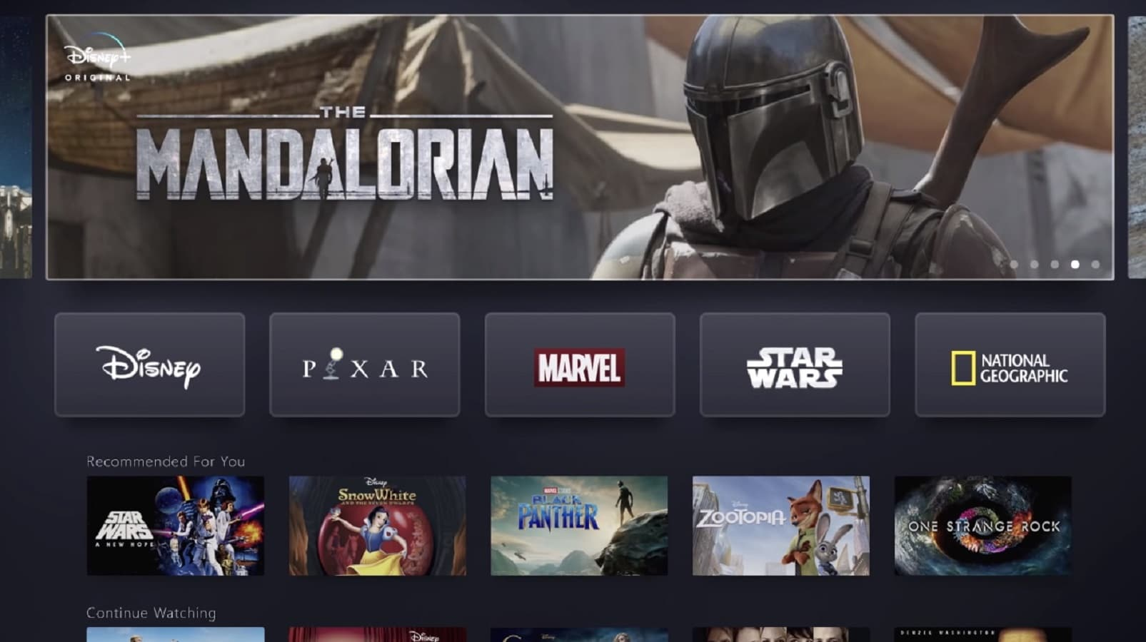 disney+ shows off launcher