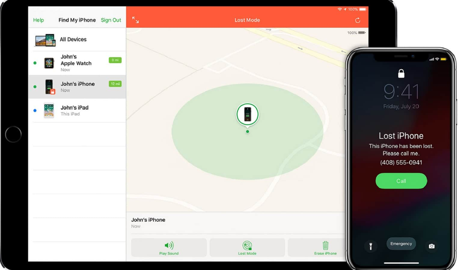 find my iphone on apple ipad and iphone