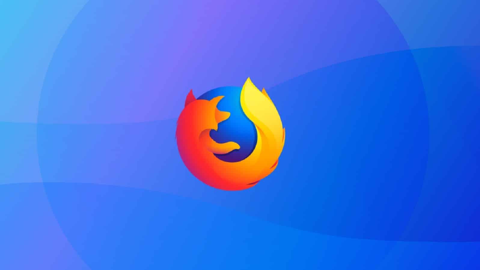 mozilla firefox logo on blue background