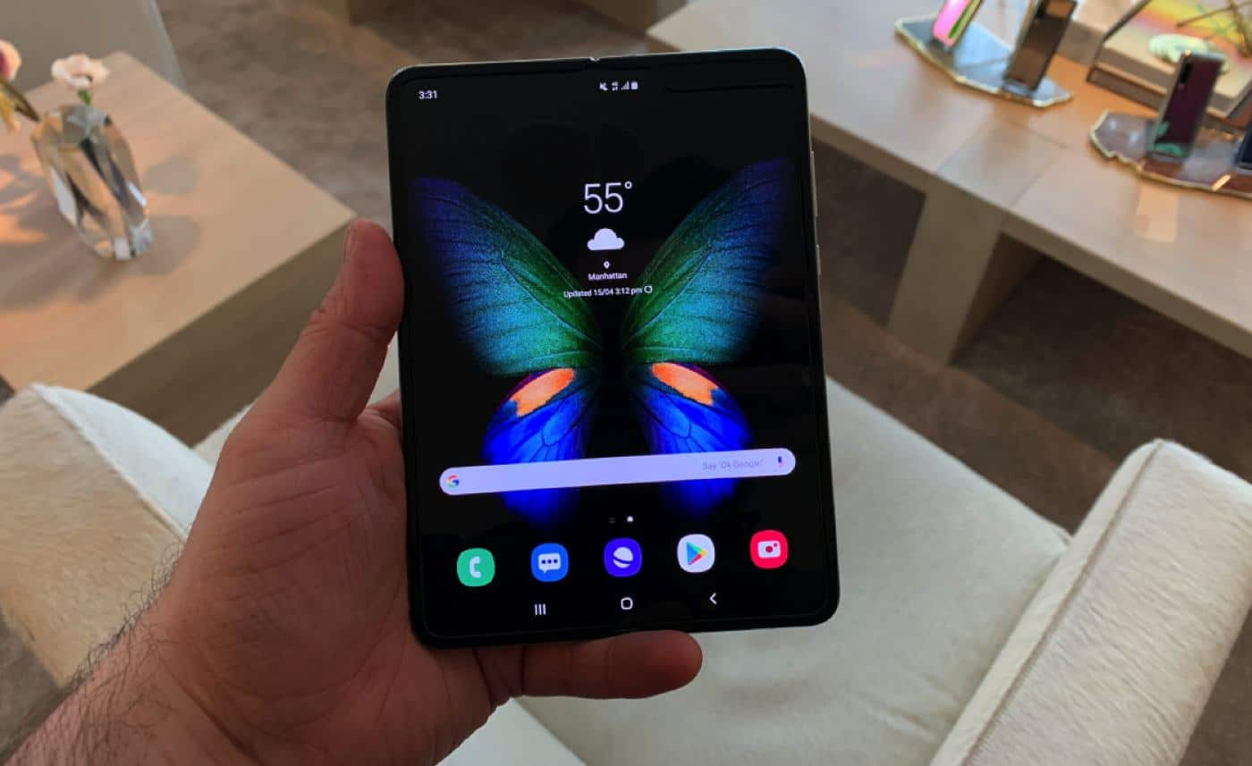 galaxy fold mike twitter folding smartphone