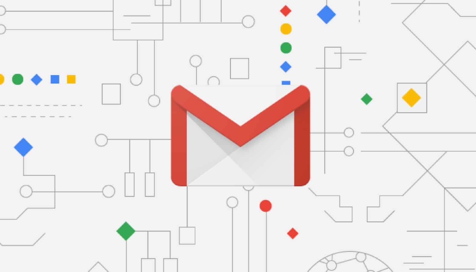 google gmail icon being shown on circuitry background