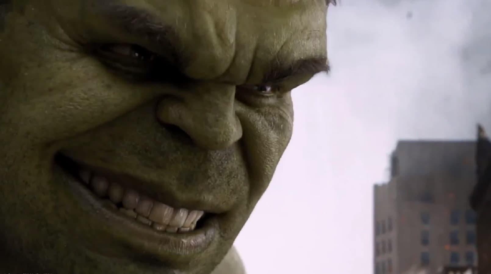 hulk from the avengers smashing
