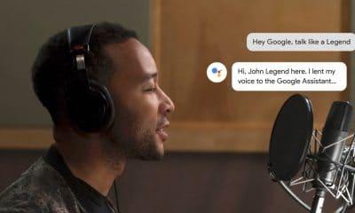 john legend google assistant voice recording in studio