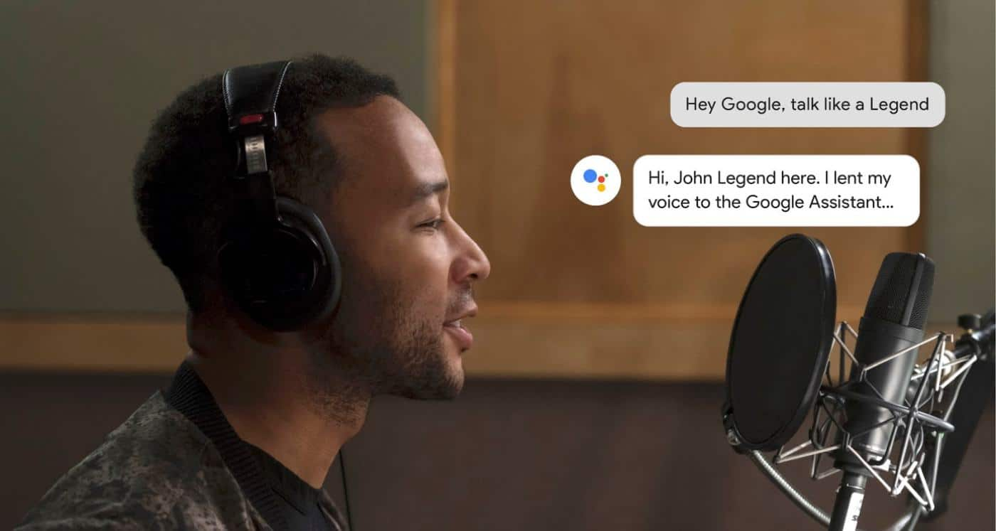 john legend google assistant voice recording in studio