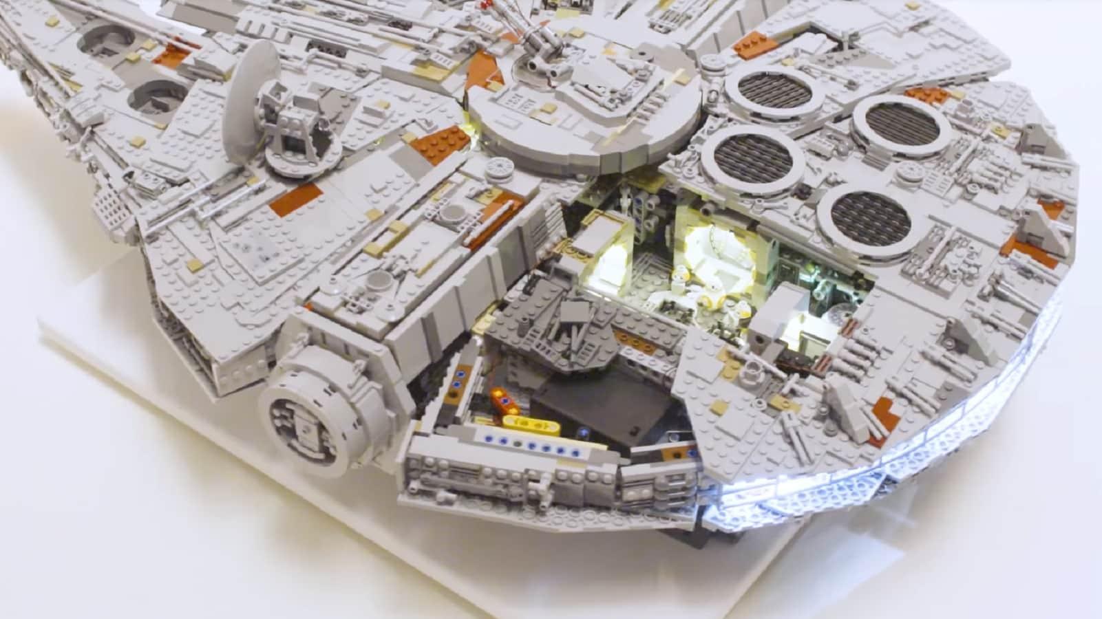 lego lights on star wars set