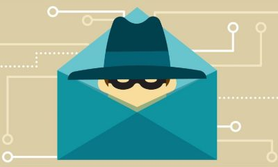 malware and ransomware being shown as a thief in an envelope