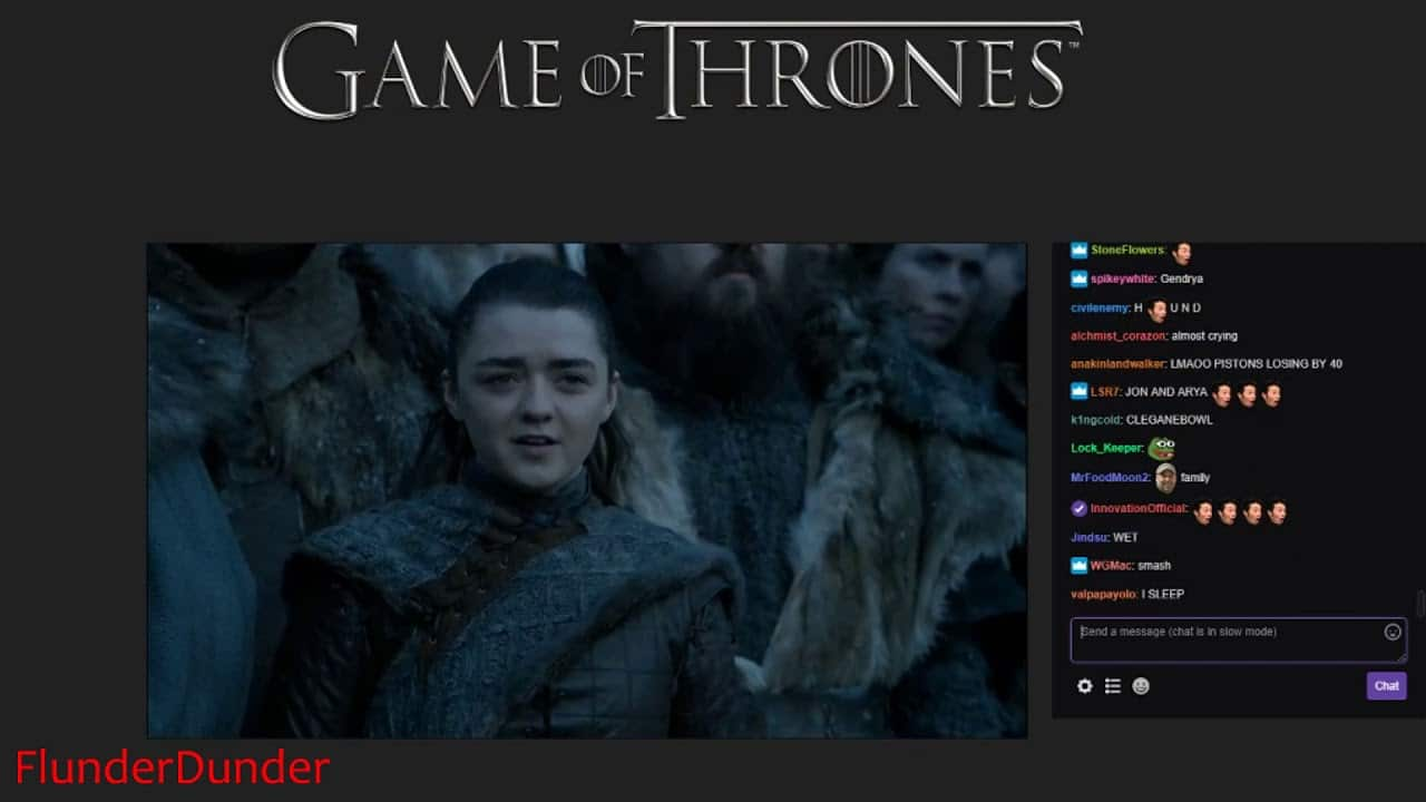game of thrones streamed on twitch