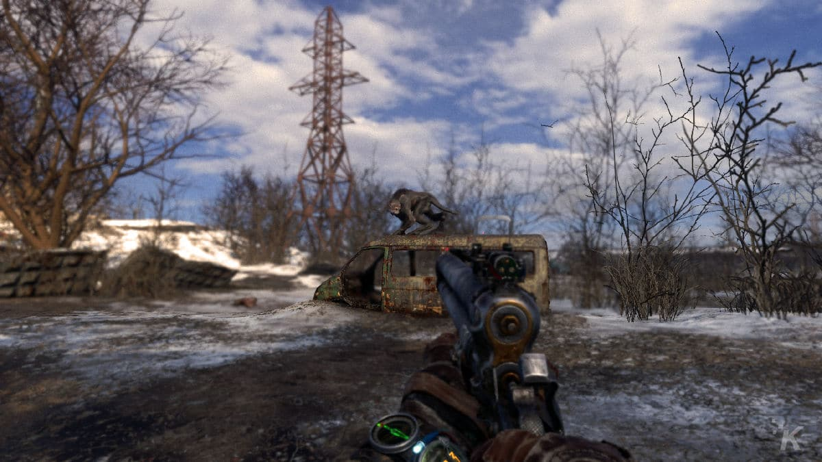 metro exodus review showing monsters