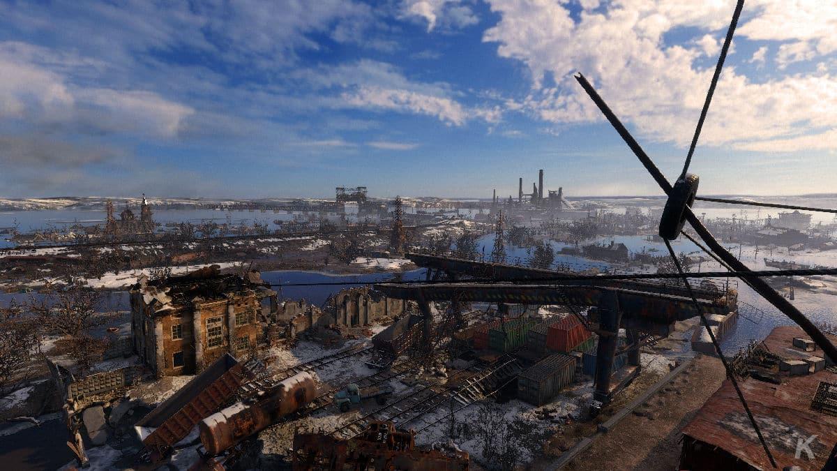 metro exodus review showing landscape
